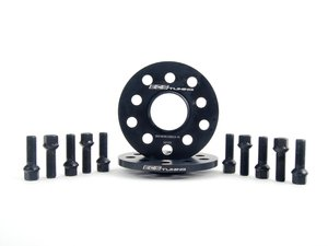 ES#2748191 - 00240302A10KT3 - ECS Wheel Spacer & Bolt Kit - 10mm With Black Ball Seat Bolts - Includes everything you need to install spacers on two wheels - ECS - Audi Volkswagen