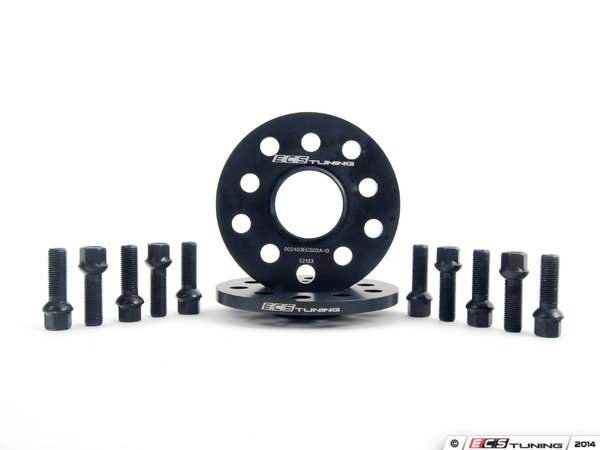 ECS Wheel Spacer & Bolt Kit - 10mm With Black Ball Seat Bolts