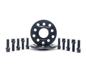 ES#2748192 - 00240302A10KT4 - ECS Wheel Spacer & Bolt Kit - 10mm With Black Conical Seat Bolts - Includes everything you need to install spacers on two wheels - ECS - Audi Volkswagen