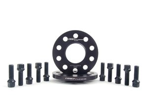 ES#2748284 - 002411ECS02AKT6 - Wheel Spacer & Bolt Kit - 12.5mm With Black Ball Seat Bolts - Complete kit for two wheels, includes everything you need to install spacers - ECS - Audi
