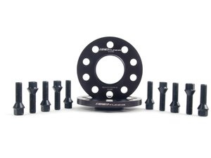 ES#2748285 - 002411ECS02AKT7 - Wheel Spacer & Bolt Kit - 12.5mm With Black Conical Seat Bolts - Complete kit for two wheels, comes with everything you need to install spacers on your aftermarket wheels - ECS - Audi