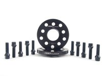ES#2748194 - ECS10157KTWBC1 - ECS Wheel Spacer & Bolt Kit - 15mm With Black Conical Seat Bolts - Includes everything you need to install spacers on two wheels - ECS - Audi Volkswagen