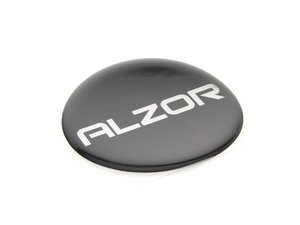 ES#2678423 - AZ6375MM1 - 63.75mm Black Sticker With Chrome Alzor Logo - Alzor -