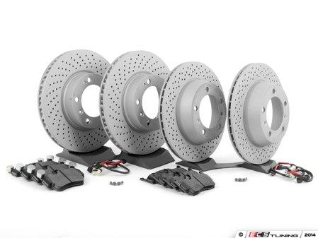 ES#2594700 - 99735193905PERKT - Performance Front & Rear Brake Service Kit - Featuring Zimmerman Z-Coated rotors and Hawk HPS brake pads - Assembled By ECS - Porsche