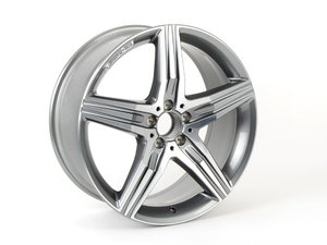"ES#2749033 - 22240112007X21KT - S63 20"" AMG 5-Double Spoke Wheel - Set Of Four - 20x8.5, ET38 High-Gloss Polish With Mid Himalaya Gray - Genuine Mercedes Benz - Mercedes Benz"