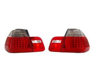 ES#240188 - E464TREDLED - LED Tail Light Set - White/Red - Dramatically improve the appearance of your BMW with this simple bolt on - EagleEyes - BMW