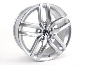ES#2224656 - 56107149888Z - Helix Alloy Wheel - Priced Each - Single alloy wheel in diamond silver - 18x8 ET48 5x112 - Genuine Volkswagen Audi - Volkswagen