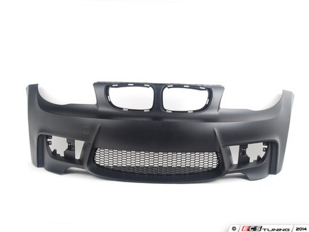 ES#2749221 - E821MFTBUMPKT - 1M Style Front Bumper Conversion  - Complete direct bolt on front bumper designed to fit with stock fenders and hood. Includes fog lights. - ECS - BMW