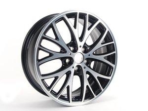 "ES#2720909 - 36116858705 - 506 MINI JCW Cross Spoke Wheel 18"" (5x112) - Black Gloss Turned - Priced Each - 7J X 18 ET:54 - Genuine MINI - MINI"