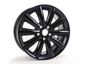 "ES#2745105 - 36116855109 - 499 MINI 10 Spoke Cosmos Wheel 17"" (5x112) Black - Priced Each - 7J X 17 ET:54 - Genuine MINI - MINI"