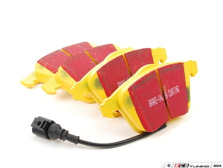ES#521040 - DP41946R - YellowStuff Performance Brake Pads - Front (With Wear Sensors) - A race quailty pad that can be used at the track and back home again - EBC - Audi Volkswagen