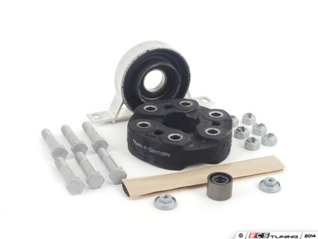 """ES#2749188 - 26112226527KT -  Universal Flex Disc Kit  - Includes high quality German-made """"Giubo"""" and center support mount bearing assembly - plus hardware - Assembled By ECS - BMW"""