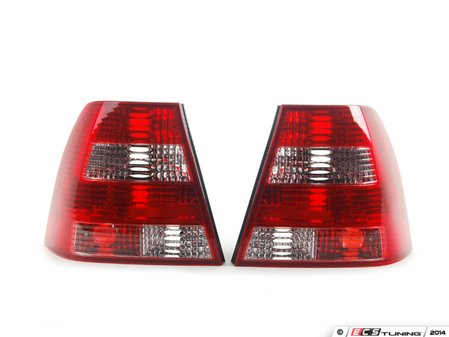 ES#9483 - fkrl351 - Sedan Tail Light Set - Crystal Clear / Red - Plug and play aftermarket tail lights with crystal clear and red lenses - FK - Volkswagen