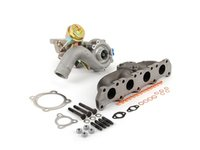 ES#2748564 - 06A145705HPatpKT - K04-001 Turbocharger & ATP High Flow Manifold Kit - Great bolt on performance upgrade! Increase horsepower and torque with this complete kit! - Assembled By ECS - Audi Volkswagen