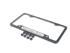 ES#1829255 - Q6880088 - License Plate Frame - Mercedes-Benz License Plate Frame (Black Powder Coat/Stainless Steel) - Genuine Mercedes Benz - Mercedes Benz
