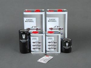 ES#2562540 - 99310720303KT2 - 993 Turbo Premium Oil Service Kit - Everything you will need to complete an oil change with Porsche Classic 10W-60 oil - Genuine Porsche - Porsche