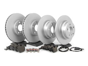 ES#2597612 - ECSE53341121-1KT - Front & Rear Brake Service Kit - Featuring Meyle Rotors and Pagid Pads - Assembled By ECS - BMW