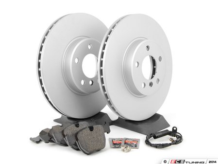 ES#1306686 - ECSE533411-2 - Front Brake Service Kit - Featuring Meyle coated rotors and Pagid pads - Assembled By ECS - BMW