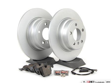 ES#1306740 - ECSE533421-3 - Rear Brake Service Kit - Featuring Meyle coated rotors and Pagid pads - Assembled By ECS - BMW