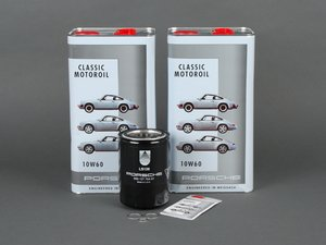 ES#2575876 - 93010776401KT3 - Premium 930 Turbo Oil Service Kit - Everything you will need to complete an oil change with Porsche Classic 10W-60 oil - Genuine Porsche - Porsche