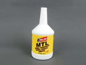 ES#1502 - RL MTL - MTL Manual Transmission Fluid 75w80 - 1 Quart - GL-4 gear oil that may allow for faster shifts than standard 75w90 fluid - Redline - Audi BMW Volkswagen MINI