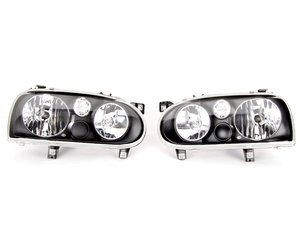 ES#261063 - 1dj008187-811 - Headlight Golf IV Look Smoked European For Golf III'S - Pair - Updated Look, Smoked E Code Performance! - Hella -