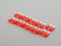 ES#7694 - AT010-10 - Standard Blade Style Fuse-10 Amp - Pack of 10 ATO style fuses - Flosser - Audi BMW Volkswagen MINI Porsche