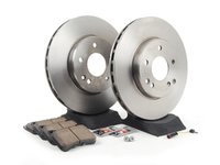 ES#2762352 - 2034211312KT2 - Front Brake Service Kit - Sport - Featuring ATE Rotors And Akebono-Euro Ceramic Pads - Assembled By ECS - Mercedes Benz