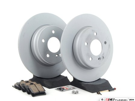 ES#2762372 - 210423101264KT2 - Rear Brake Service Kit - Sport - Featuring ATE Rotors And Akebono-Euro Ceramic Pads - Assembled By ECS - Mercedes Benz