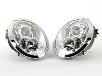 ES#2762291 - HMINI01HL-CC - Projector Chrome Headlights - Pair - Chrome ring and housing projector headlight set! - Helix - MINI