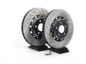 ES#2602983 - 000690ECS01AKT - Front 2-Piece Brake Rotors - Pair (345x30) - Direct bolt-on replacement - 25% less weight! - ECS - Audi