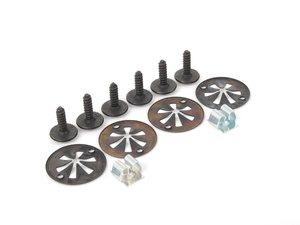 ES#2762689 - 1J0825237RKT5 - Belly Pan Installation Hardware Kit - Includes 6 clips and screws - Genuine Volkswagen Audi - Volkswagen