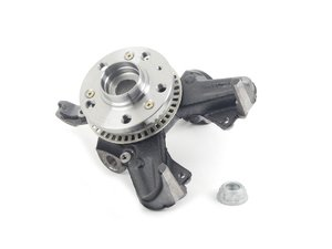 ES#2748002 - 1J0407256AG - Spindle assembly - Right - Includes the housing, wheel bearing, ABS speed ring & wheel hub - Pre-Assembled ready to bolt in - ECS - Volkswagen