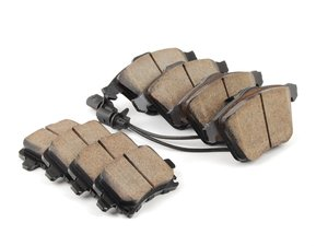 ES#2765582 - EUR1111KT1 - Front & Rear Euro Ceramic Brake Pad Kit - Ceramic composite developed to meet low dust & noise requirements, includes front and rear pads - Akebono - Audi