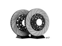 ES#2561992 - 000505ECS01AKT - 2-Piece Lightweight Front Brake Rotors - Pair (325x28) - Direct bolt-on cross-drilled and slotted replacement - 2-piece semi-floating rotors offer reduced unsprung weight and additional cooling capacity versus OEM for improved braking, handling, and ride quality! - ECS - BMW