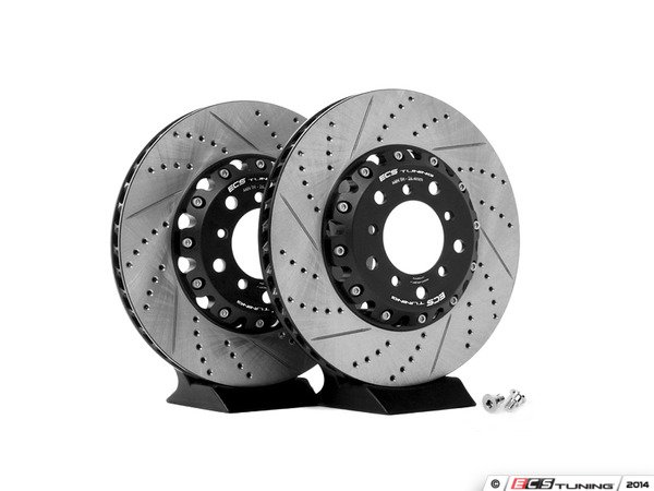 ES#2561992 - 000505ECS01AKT - 2-Piece Front Brake Rotors - Pair (325x28) - Direct bolt-on upgrade - greatly reduces unsprung weight! - ECS - BMW