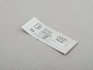 ES#435712 - 8E0010183T - Fuel Sticker - Located on the fuel filler neck - Genuine Volkswagen Audi - Audi