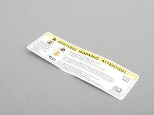 ES#1897482 - 8K0010520A - Radiator fan warning sticker - Refresh your engine bay - Genuine Volkswagen Audi - Audi