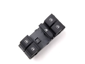 ES#2955605 - 1K4959857CREH -  Window Switch - Black - Window switch assembly located on the driver door - Genuine Volkswagen Audi - Volkswagen