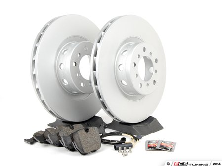 ES#2598458 - ECSE393411-6KT - Front Brake Service Kit - Featuring Meyle Rotors and Pagid Pads - Assembled By ECS - BMW