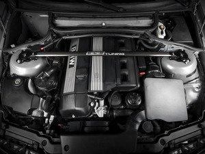 ES#10995 - ecscf03bw03aceb - ECS Carbon Fiber Strut Bar Kit - Black - Reduce chassis flex with this lightweight strut bar - ECS - BMW