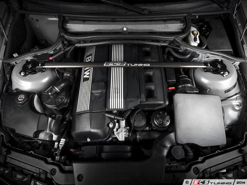 Ecs News Bmw E46 3 Series Ecs Carbon Fiber Strut Bar