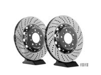 ES#2677765 - 000505ECS02KT - 2-Piece Lightweight Front Brake Rotors - Pair (345x28) - Direct bolt-on cross-drilled and slotted replacement - 2-piece semi-floating rotors offer reduced unsprung weight and additional cooling capacity versus OEM for improved braking, handling, and ride quality! - ECS - BMW