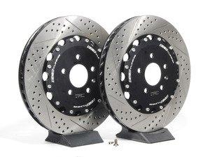 ES#2603008 - 000574ECS02AKT - 2-Piece Rear Brake Rotors - Pair (356x32) - Direct bolt-on upgrade - 2-piece semi-floating rotors! - ECS - Audi