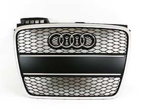 ES#6644 - 8E0898003 - RS4 Grille Kit - With Brushed Aluminum Plate Filler - Clean up or change your look - Genuine European Volkswagen Audi - Audi