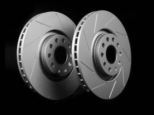 ES#2189960 - 8E0301ADSGMTLRA -  Front Slotted Brake Rotors - Pair (321x30) - Featuring GEOMET protective coating. - ECS - Audi