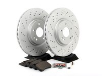 ES#2762642 - 2034211312KT3 - Front Brake Service Kit - Sport - Featuring Meyle rotors and OP Parts pads - Assembled By ECS - Mercedes Benz