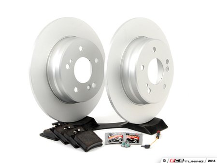 ES#2762646 - 2044230112KT6 - Rear Brake Service Kit - Non Sport - Featuring Meyle rotors and OP Parts pads - Assembled By ECS - Mercedes Benz