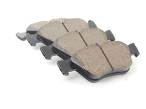 ES#3161591 - EUR710 - Front Euro Ceramic Brake Pad Set - Ceramic composite developed to meet low dust & noise requirements. Includes wear sensors. - Akebono - Mercedes Benz