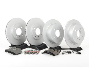 ES#2731604 - 34111160915KT - Front And Rear Brake Service Kit - Featuring Zimmermann coated rotors and Pagid brake pads - Assembled By ECS - BMW